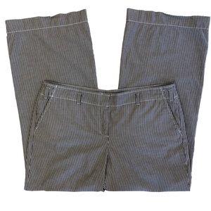 J Crew City Fit Pants Striped Wide Leg Gray White